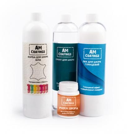 Набор для покраски и реставрации кожаного кресла с глянцевым лаком AM coatings