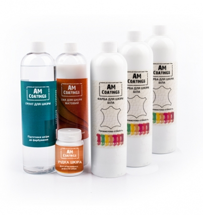 Набор для покраски и реставрации 5-7-местного кожаного уголка с матовым лаком AM coatings