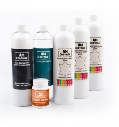 Набор для покраски и реставрации 5-7-местного кожаного уголка с экстра-защитным глянцевым лаком AM coatings