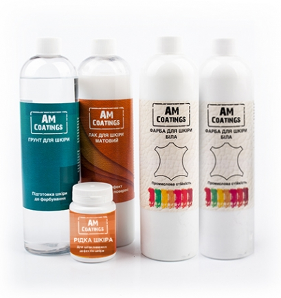 Набор для покраски и реставрации кожи салона авто с матовым лаком AM coatings