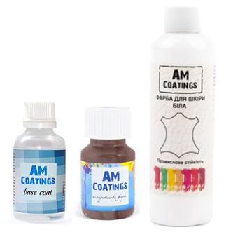 Набор для покраски кожи руля, подлокотников, панелей авто AM coatings
